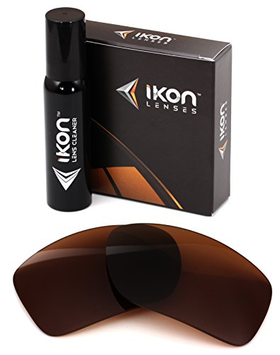Ikon Lenses Polarized IKON Replacement Lenses For Maui Jim Peahi MJ-202 Sunglasses - Brown by Ikon Lenses