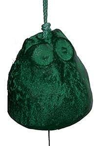 Japanese Cast Iron Green Owl Wind Chime Windchimes