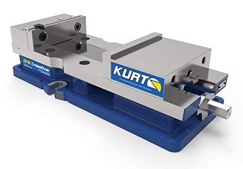 """Kurt DX6 Vise with 9"""" Opening, 6"""" Size, 4.360"""" Height, 7.391"""" Width, 16.810"""" Length, Blue"""
