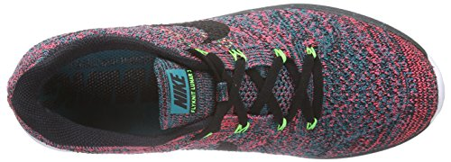 Nike Womens Flyknit Lunar3 Löparskor Svart Smaragd Hyper Punch