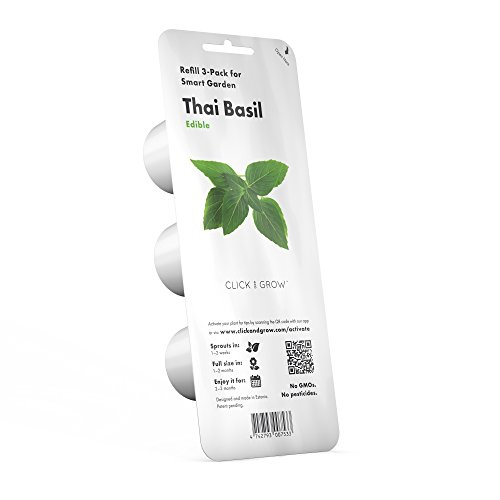 Click and Grow Smart Garden Thai Basil Plant Pods, 3-Pack