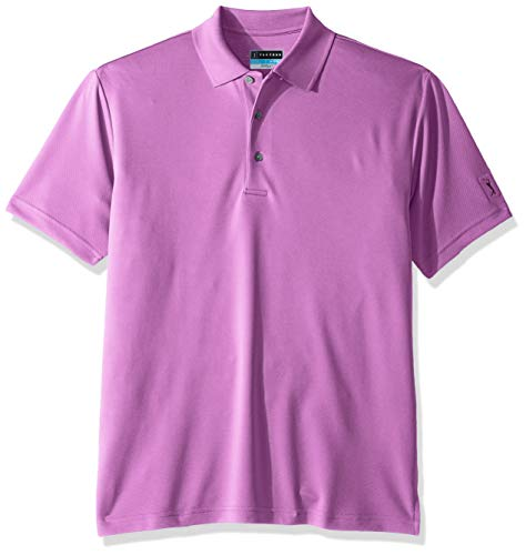 - PGA TOUR Men's Short Sleeve Airflux Solid Polo Shirt, Dewberry, XXXL
