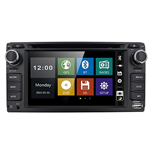 2 Din Universal Car GPS DVD Player for Toyota Camry Corolla RAV4 4Runner Hilux Tundra Celica Auris Radio USB Bluetooth AUX Touch Screen In Dash Stereo