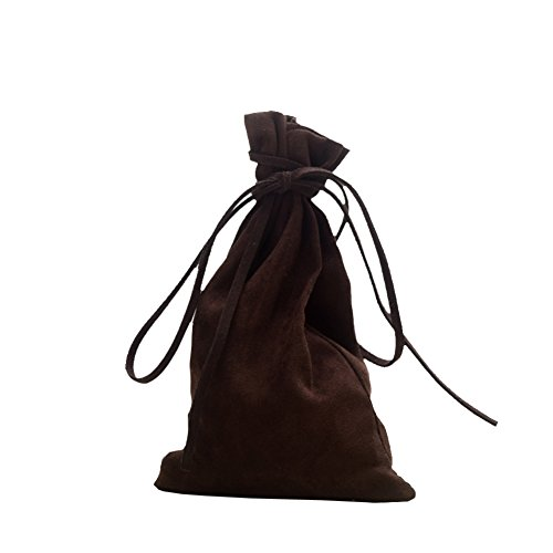 BLESSUME Medieval Pouch Drawstring Bag Brown