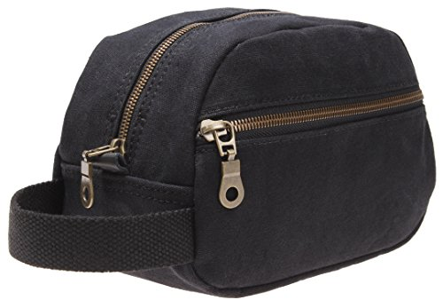 Mens Canvas Travel Toiletry Bag Case Organizer Shave
