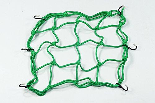 Bungee Net, Moto Onfire [Luggage Cargo Bungee Net Bag] [6 Hooks] [Bike Motorcycle Helmet Mesh Storage Carrier Bag] - 3030cm - Green