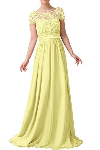 amarillo trapecio Topkleider 1 mujer Vestido para R0nwqPU
