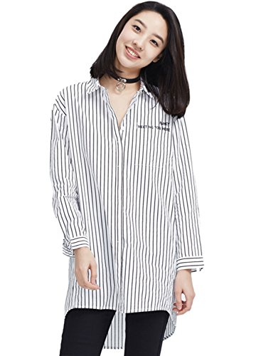 meters-bonwe-womens-casual-letter-print-high-low-single-breasted-shirt-blackwhite-l