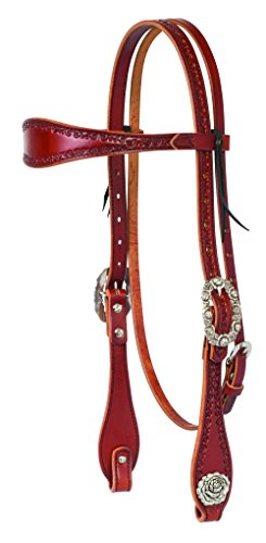 (Weaver Leather Filigree Hand Tooled Browband Headstall)