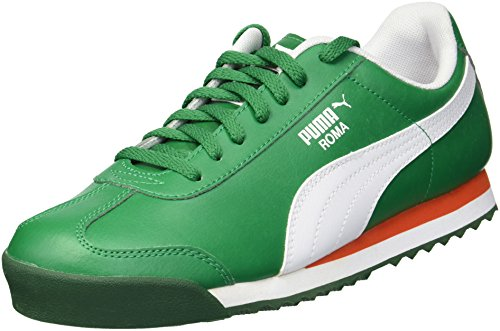 Classic Sneakers Puma Men/'s Roma Basic VerdantGreen-Red