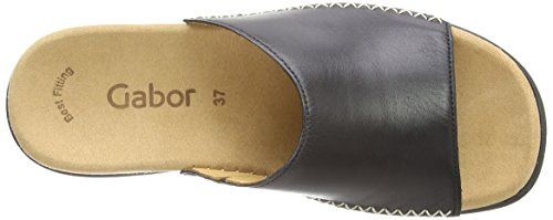 Gabor Mujer Black Shoes Zuecos Gabor para Leather gUaSqPH