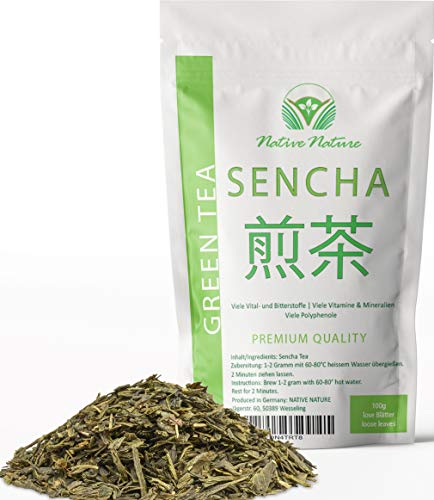 Grüner Tee Sencha - Qualitätstee mit Tradition, lose Blätter, 100g - Native Nature