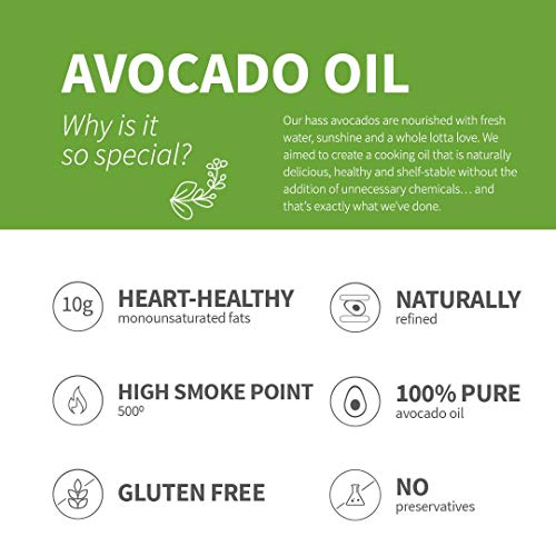 Chosen Foods 100% Pure Avocado Oil Spray 4.7 oz. (10 Pack), Non-GMO, 500° F Smoke Point, Propellant-Free, Air Pressure Only for High-Heat Cooking, Baking and Frying by Chosen Foods (Image #6)