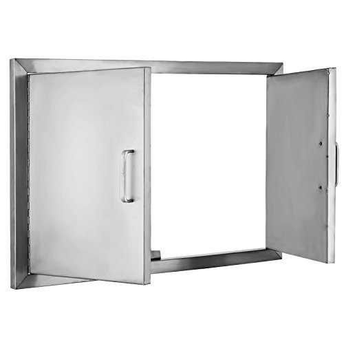 Happybuy bbq access door double wall construction cutout for Outdoor double doors