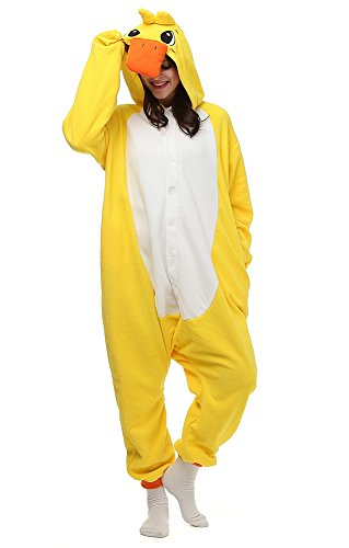 JSBdress Lovely Cosplay Animal Costumes Pajamas for Unisex Adults Yellow Duck X-Large