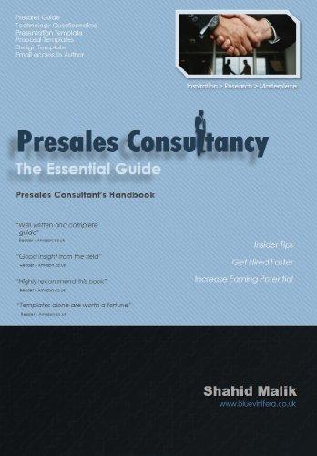 Presales Consultancy The Essential Guide EBook Shahid