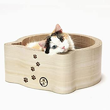 Necoichi Cat-headed Scratcher Bed (Birch)