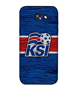ColorKing Football Iceland 05 Blue shell case cover for Samsung A5 2017