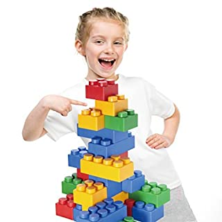UNiPLAY Jumbo Multicolor Soft Building Blocks Plump Series 2 Different Sizes of Blocks for Ages 3 Months & Up Non-Toxic & BPA-Free Developmental, Educational, Creative Toy 60 Piece