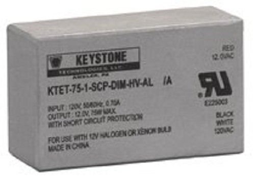 75 Watt 120V to 12 Volt Low Voltage Step Down Dim Ballast KTET-75-1-SCP-DIM-HV-AL Keystone Technologies KTET751SCPDIMHSVAL