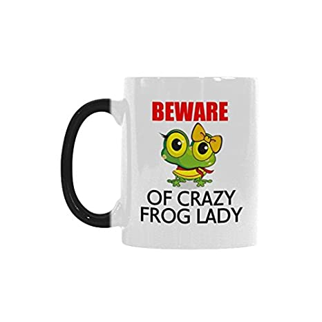 Humor Funny Saying & Quotes:Beware of Crazy Frog Lady Color ...