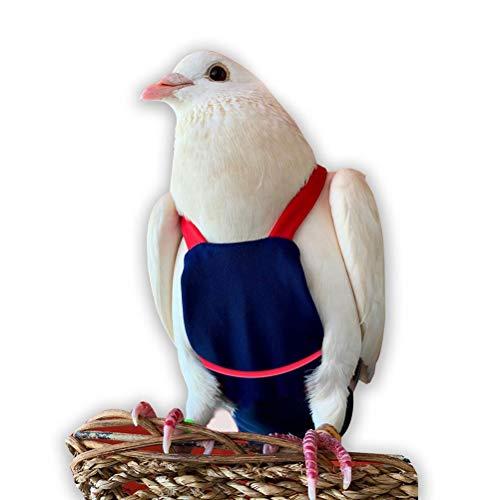 Bev's Bird Boutique – Navy Red Straps Flyper – Open Back Style