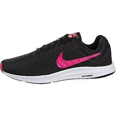 Nike 852466-008: Women's Black/Racer Pink Downshifer 7 Sneakers (7.5 B(M) US Women)