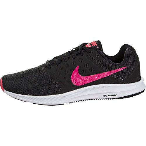 Nike Womens WMNS Downshifter 7 Black Racer Pink White Size - Women Running Pink Shoes Nike