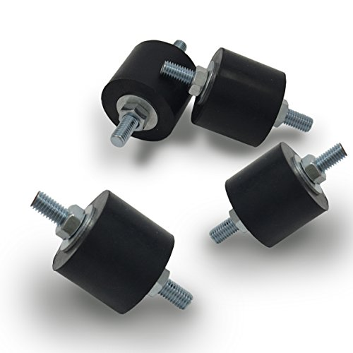 - Anti-Vibration Rubber Isolator Mounts with Studs Shock Absorber, M8-1.25
