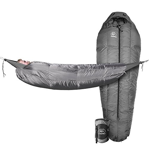 Performance Mummy Bag - Outdoor Vitals StormLoft MummyPod Down Sleeping Bag for Hammock or Ground Camping