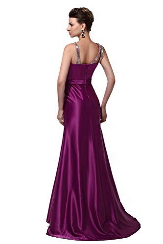 Marron Taffeta Prom Queen Neck Dresses Sleeveless Boat Sequins Long Women's 2016 Hot Pgq6UY
