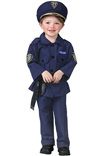 Fun World Costumes Baby Boy's Complete Policeman Toddler Costume, Blue, Toddler Large(8-10) (Policeman Costumes)