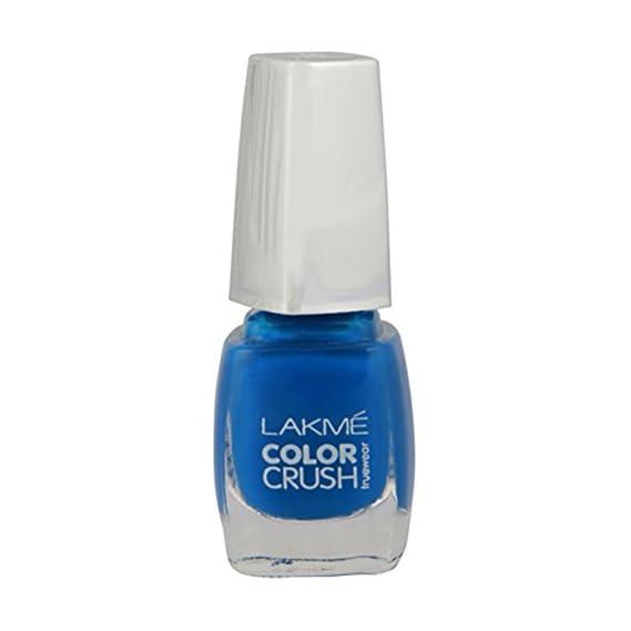Lakme True Wear Color Crush Nail Color, Blue 02, 9 ml