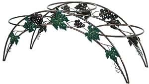 River Cottage Gardens SPS955 3-Tier Cooper Wash Metal Construction Grape Design Plant Stand