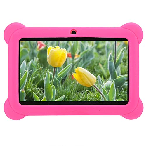 Annadue 7in HD Children Tablet PC, High Definition 1+8G Red Computer Equipment, Support for WIFI Connection, Eco…