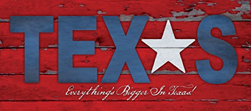 Everything is Bigger in Texas Poster Lone Star Unframed Art of the State Flag