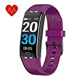 KEEPONFIT Fitness Tracker, Activity Tracker Watch with Heart Rate Monitor, IP68 Waterproof Pedometer