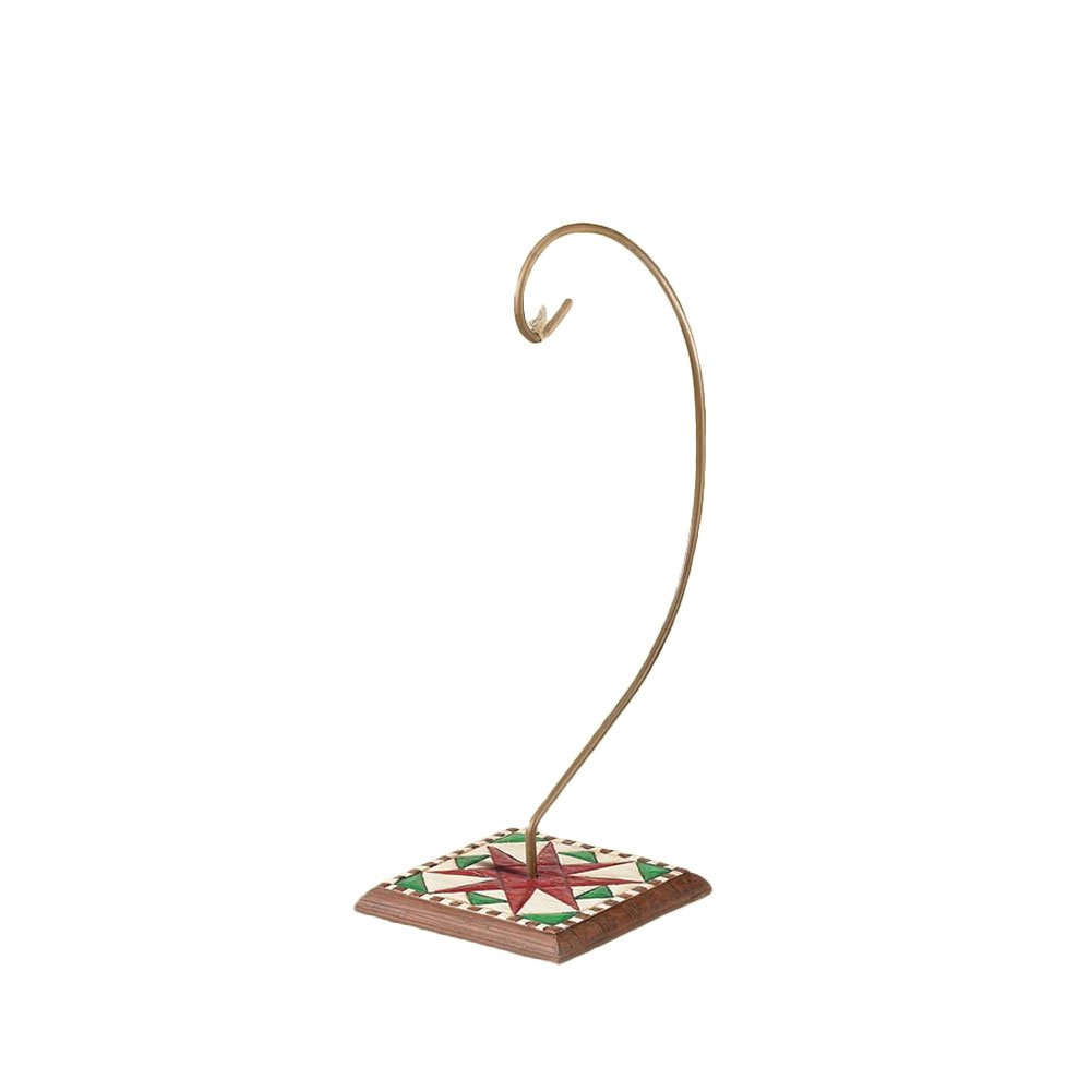 Enesco Jim Shore Heartwood Creek Ornament Holder with Quilt Pattern on Wood Base 8-1//2 Inches