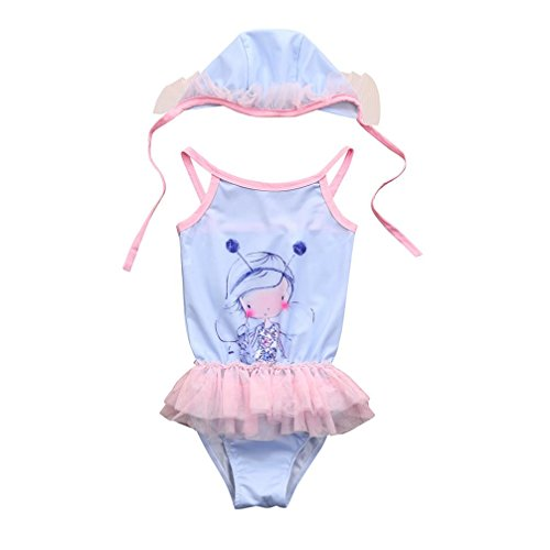0496fc54fe869 Galleon - 2018 Hot Sale!Todaies Toddler Kid Baby Girl Cartoon Lace 2 Piece  Swimsuits Romper Bathing Outfits Set (2-3T