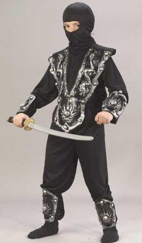 Ninja Warrior Child Costume Silver - Large