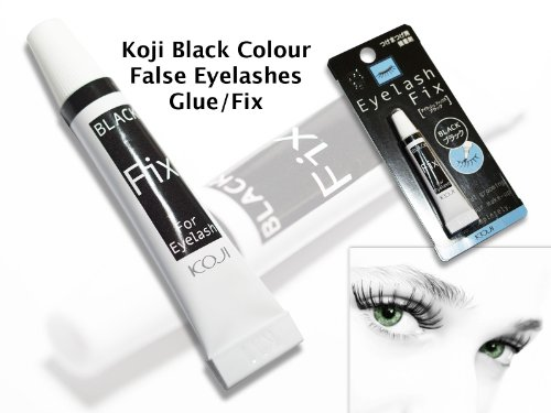 Koji BLACK (Scentless) False Eyelashes Glue/Fix (Import from & Made in Japan)