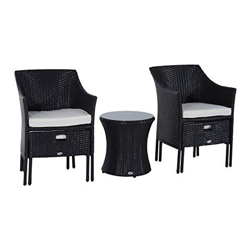 Outsunny Rattan Wicker Outdoor Patio Furniture Leisure Set