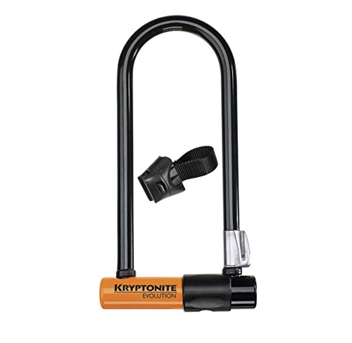 Kryptonite Bügelschloss Evolution Mini-9 mit Flex Frame Halter, 3500328