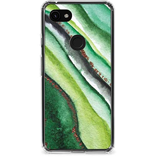 Skinit Kiwi Watercolor Geode Google Pixel 3a Clear Case - Officially Licensed Skinit Originally Designed Phone Case Clear - Transparent Google Pixel 3a Cover