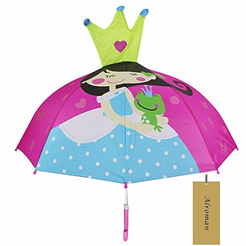 Child Umbrella Girls Waterproof Umbrellas with Cartoon Pa...