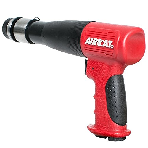 AIRCAT 5200-A-T Stroke Low Vibration Composite Air Hammer, Long, Red & Black