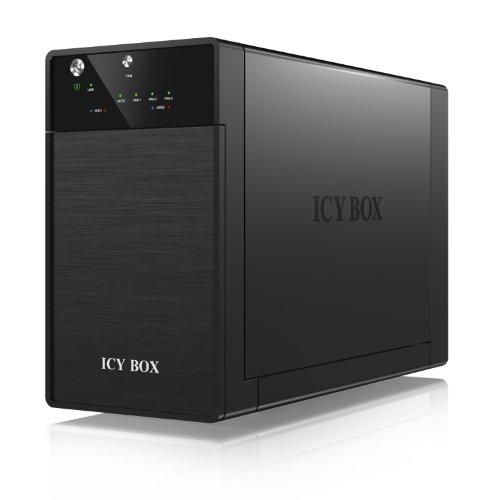 Icy Box IB-3620U3 Externes 2-fach JBOD-Gehäuse für 3,5
