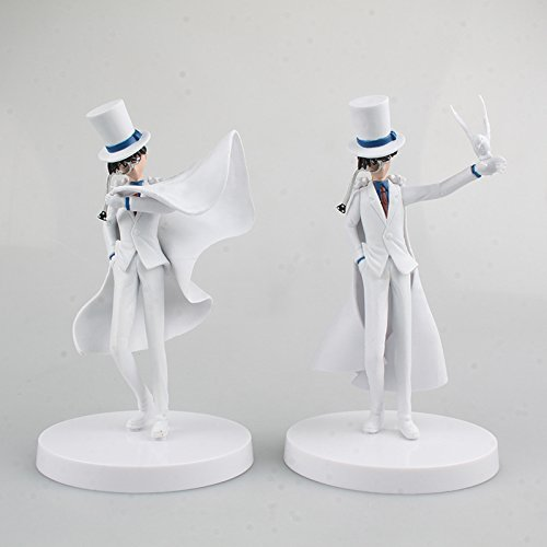 Aanime Detective Conan Kaitou Kiddo 2pcs/set PVC Action Figure Collectible Models Toys 15.5cm KT2435