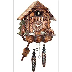 Alexander Taron 404QM Engstler Battery-Operated Cuckoo Clock - Full Size - 9.75 H x 9 W x 6.25 D Brown