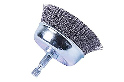 "Forney 72797 Cup Brush, Fine Crimped with 1/4"" Shank, 3"""